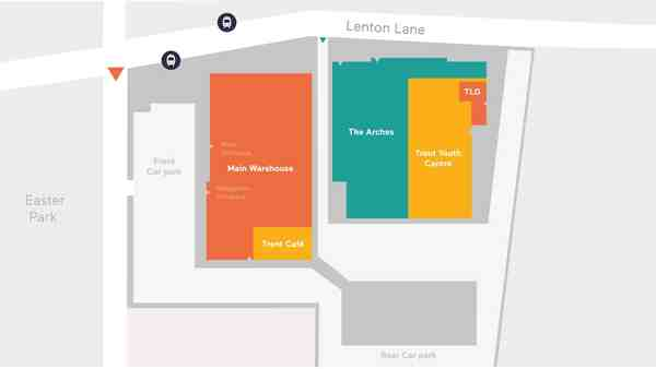The Arches Lenton Lane Nottingham site map